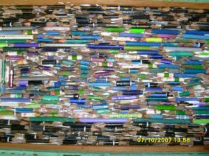 Matite verdi e matite azzurre